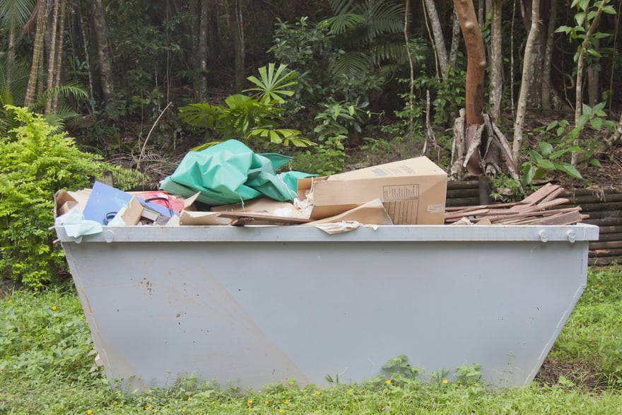 Picture of 10 yard dumpster in Polk County, FL.
